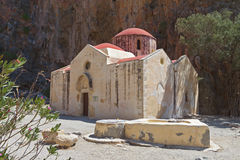 Agiofarago gorge at Crete island Royalty Free Stock Photography