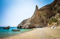 Agiofarago plaża, Crete wyspa, Grecja Zdjęcia Royalty Free