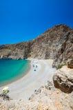 Agiofarago plaża, Crete wyspa, Grecja Obrazy Royalty Free