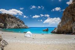 Agiofarago plaża, Crete wyspa, Grecja Obrazy Stock