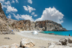 Agiofarago plaża, Crete wyspa, Grecja Fotografia Royalty Free