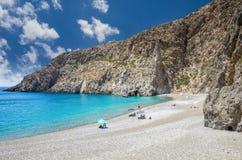 Agiofarago plaża, Crete wyspa, Grecja Zdjęcie Stock