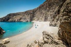 Agiofarago plaża, Crete wyspa, Grecja Obraz Royalty Free