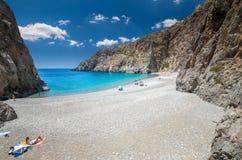 Agiofarago-Strand, Kreta-Insel, Griechenland Stockbild