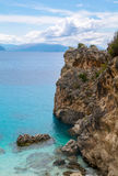 Agiofili海滩莱夫卡斯州,希腊 免版税库存照片