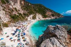 Agiofili plaża, Lefkada Fotografia Stock