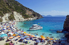 Agiofili plaża, Lefkada, Grecja Zdjęcie Stock