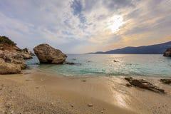 Agiofili plaża Vasiliki, Lefkada Obrazy Royalty Free