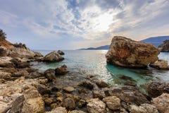 Agiofili plaża Vasiliki, Lefkada Fotografia Royalty Free