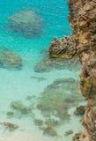 Agiofili strand, Lefkada ö, Grekland Arkivfoto