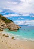 Agiofili strand, Lefkada ö, Grekland Fotografering för Bildbyråer
