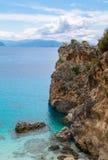 Agiofili strand Lefkada, Grekland Royaltyfri Foto