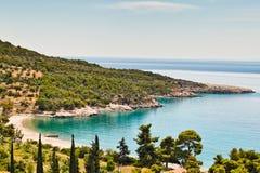 Agioi Anargyri i den Spetses ön, Grekland royaltyfria bilder