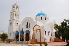 Agioi Anargyroi教会, Agistri 免版税库存照片