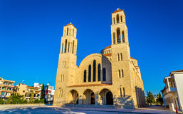 Agioi Anargyroi正统大教堂在帕福斯 免版税图库摄影