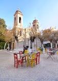 Agioi Anargyroi Orthodox church Psirri Athens Greece royalty free stock image
