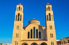 Agioi Anargyroi Ortodoksalna katedra w Paphos Obrazy Royalty Free
