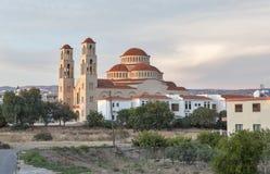 Agioi Anargyroi Ortodoksalna katedra w Paphos Zdjęcie Royalty Free