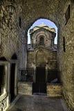Agioi Apostoloi,更旧的教会, Pyrgi垂直的HDR视图  免版税库存图片
