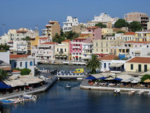 agios crete greece nicolaos Royaltyfri Bild
