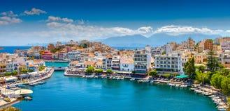 agios crete greece nikolaos Royaltyfri Bild