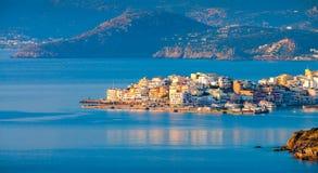 agios crete greece nikolaos arkivbilder