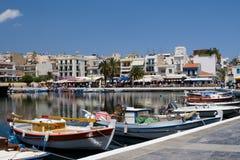 agios crete greece nikolaos royaltyfri fotografi