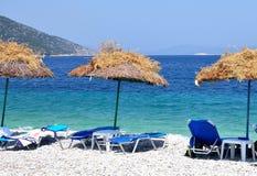 Agios Dimitrios beach. In Alonissos stock images