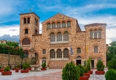 Agios Dimitrios Saint Dimitrios kyrka i Thessaloniki stad, G arkivbilder