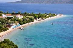 Agios Dimitrios-strand in Alonissos-eiland, Griekenland royalty-vrije stock fotografie