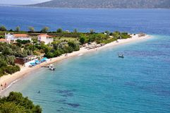 Agios Dimitrios-Strand in Alonissos-Insel, Griechenland lizenzfreie stockfotografie