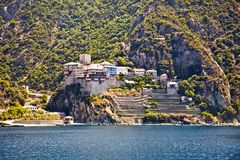 Free Agios Dionisiou Medieval Monastery On Mount Athos. Greece. Royalty Free Stock Photo - 86154775