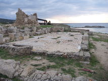 Agios filon church in karpasia peninsula. In cyprus stock photos