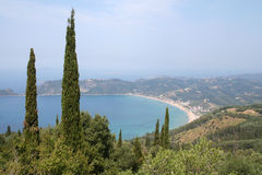 Agios Georgeos Bay. Stock Image
