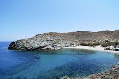 Beach in Folegandros island in Greece Royalty Free Stock Image