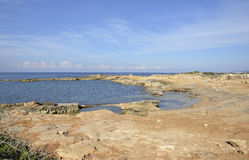 Agios Georgios Coast Royalty Free Stock Photography