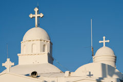 Agios Georgios domes in Lycabettus Royalty Free Stock Photos