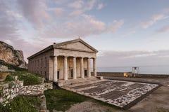 Agios Georgios (St. George) - gammal fästning Arkivfoto