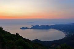 Agios Georgios Sunset, Corfu, Greece Royalty Free Stock Images