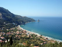 Agios Gordios beach Royalty Free Stock Photos