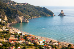 Agios Gordios exotic beach in Corfu island,Greece Royalty Free Stock Image