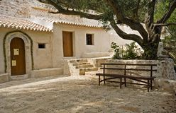 Agios Iannis Antzousis. At breakneck church name, which is the oldest church on the island Lefkada in Greece Stock Images