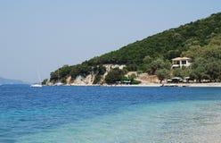 Agios Ioannis, île de Meganissi Photos libres de droits