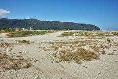 Agios Ioannis Beach dichtbij de stad van Lefkada Royalty-vrije Stock Afbeeldingen