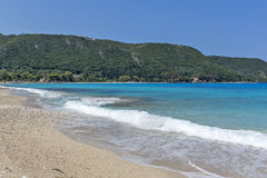 Agios Ioannis Beach Lefkada, Ionian öar Arkivfoton