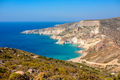 Agios Ioannis beach Melos, Greece Stock Photos
