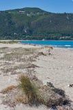 Agios Ioannis Beach nära staden av Lefkada, Ionian öar Royaltyfri Foto