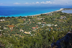 Agios Ioannis Beach near the town of Lefkada Royalty Free Stock Photo