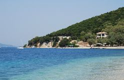 Agios Ioannis, isola di Meganissi Fotografie Stock Libere da Diritti