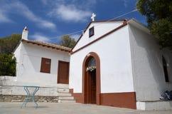 Agios Ioannis. Mama Mia church, the church where the film Mama Mia Stock Photos